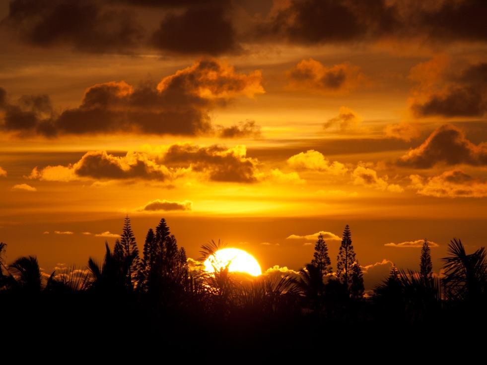 Sunrise over Kauai